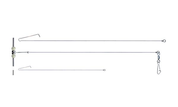 荧光珠与交叉线黄铜珠和管平衡钓具配件